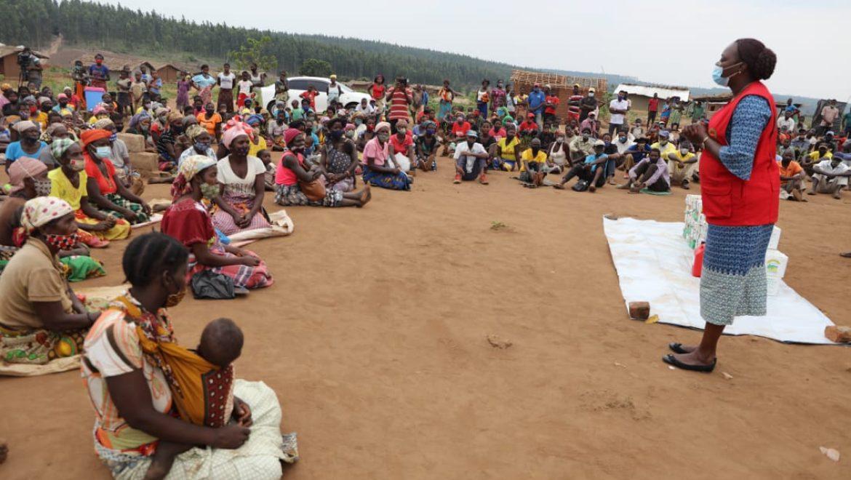 INGC assegura apoio para os cerca de 4mil deslocados que se encontram nos centros de acolhimento de Gondola, província de Manica
